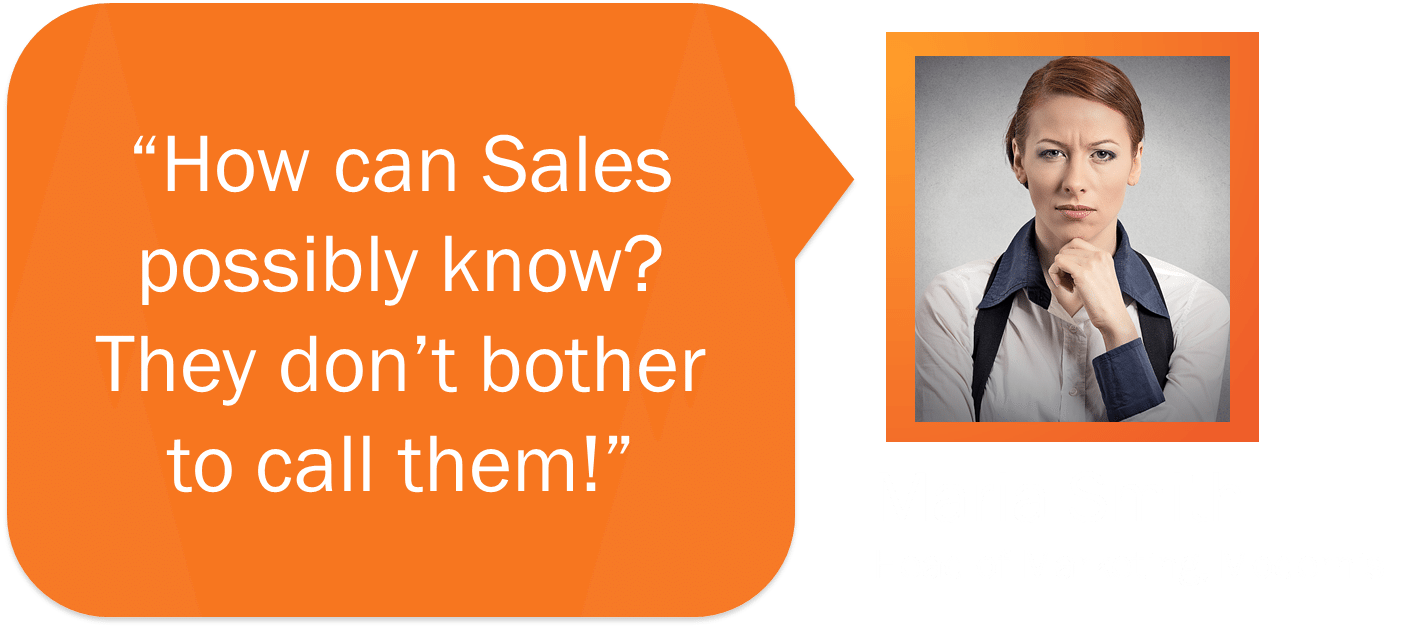 Sales don't bother to phone Marketing Leads, says Maria Smith