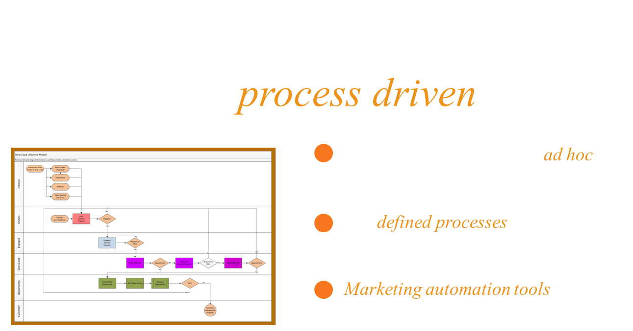 Lesson 6 - creating high quality marketing leads requires a process driven approach supported by technology.