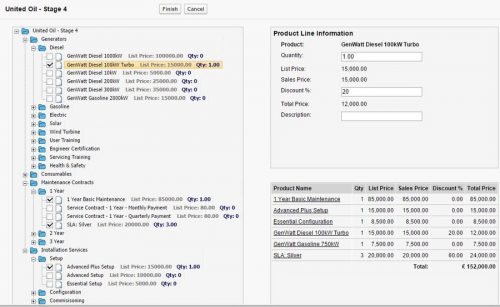 Product selection wizard to make it easier to add products to salesforce opportunities.