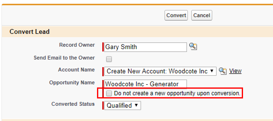 #1 of the salesforce lead conversion best practices: Do not check the 'Do Not Create Opportunity' checkbox.